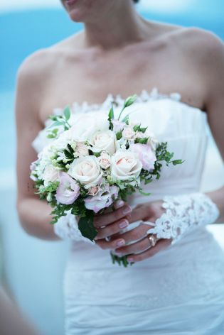 Bridal bouquet created by Giuseppina Comoli for a wedding on lake Maggiore