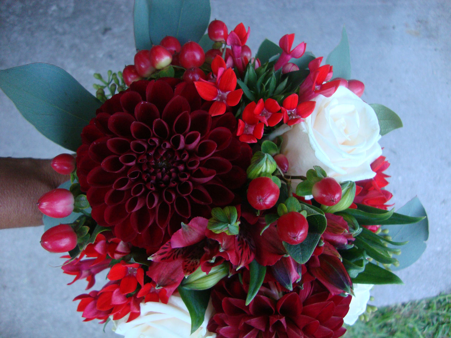 Flower bouquet created by the floral designer Giuseppina Comoli