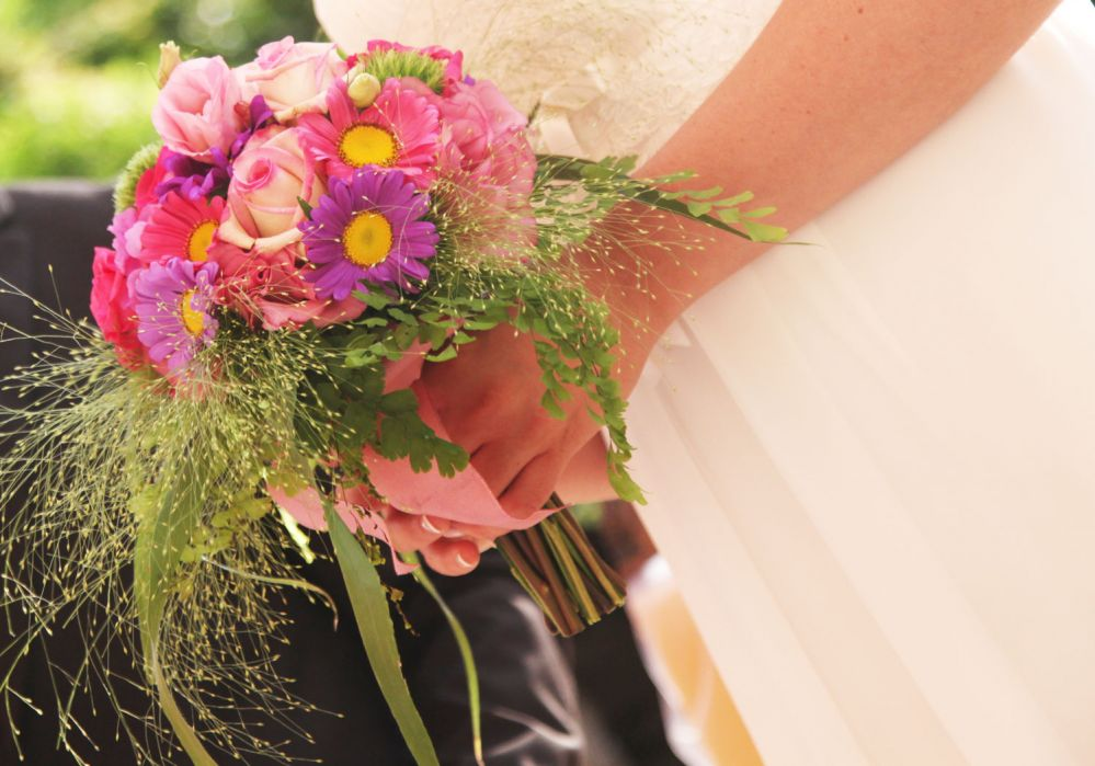 The bridal bouquet created by Giuseppina Comoli