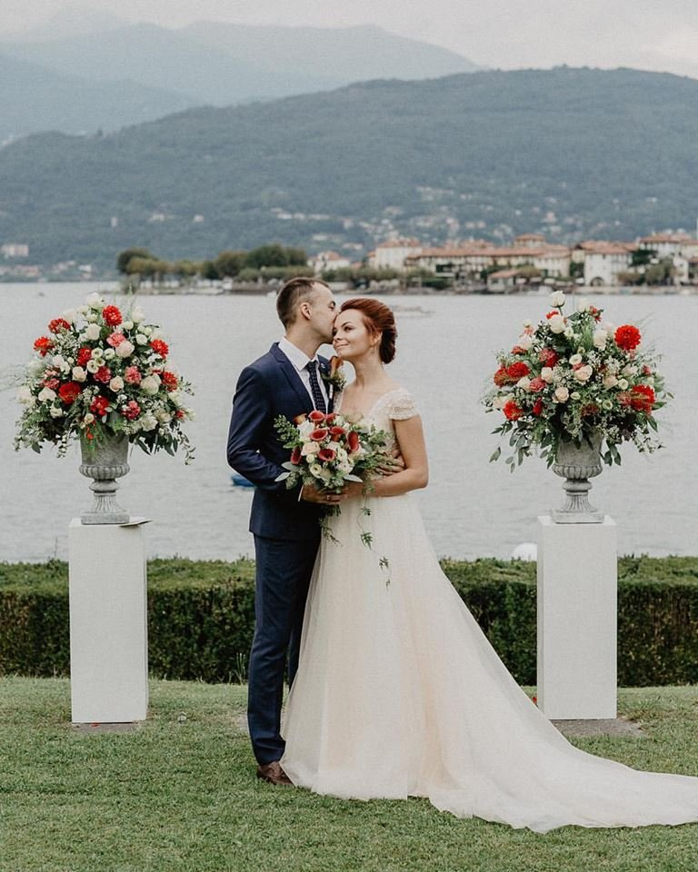 Civil ceremony at Villa Aminta. La Bella Vita Wedding