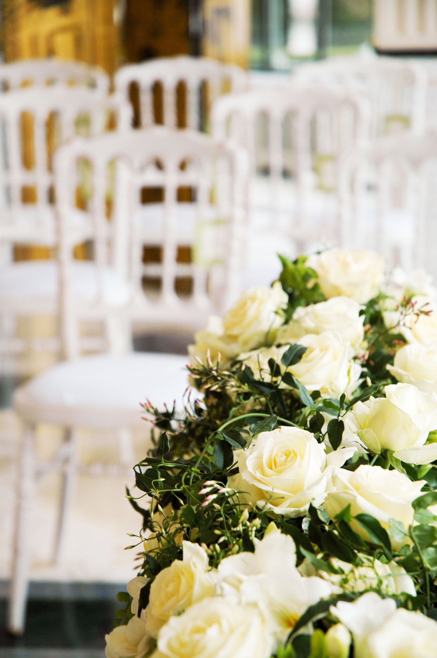 Civil ceremony on Lake Maggiore: floral decorations created by Giuseppina Comoli