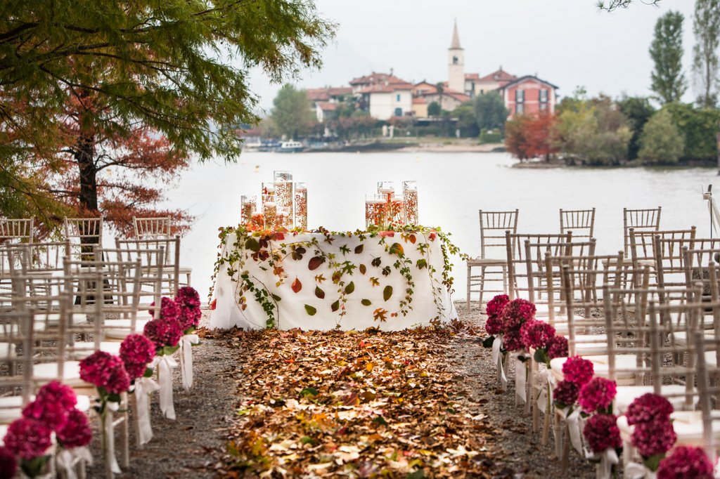 Autumn wedding on Lake Maggiore